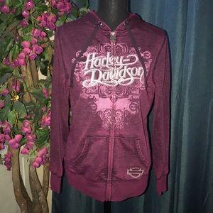 💜 Harley Davidson 💜 size M zip up hoodie 💜